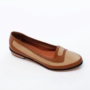 Rachel Comey size6 Trace flats coffee/canvas